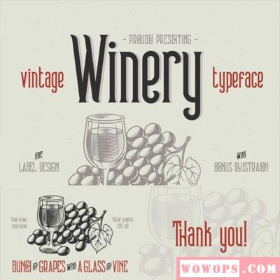 Winery手写时尚杂志沙发LOGO平面设计西厅餐厅海报设计图图片